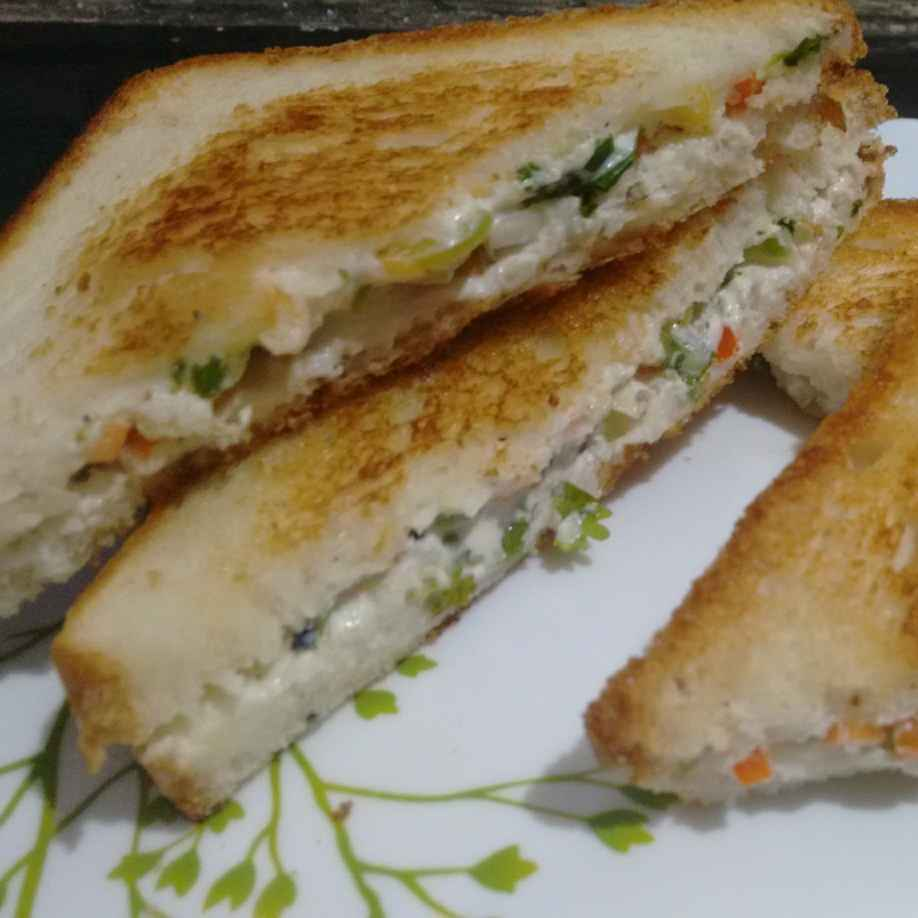 How to make Hung curd sandwich