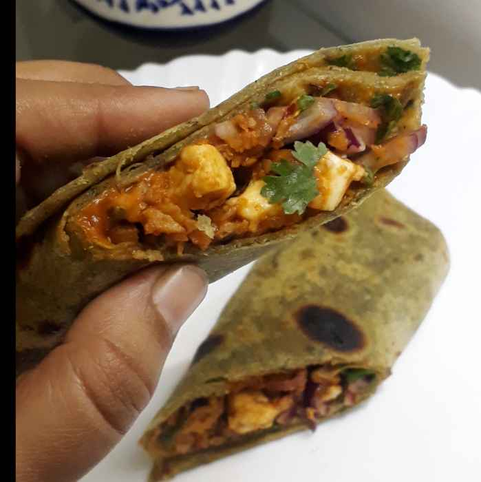 Photo of Soya Methi Paneer Wrap by POOJA MISRA at BetterButter