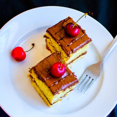 Photo of Eggless Chocolate Pastry / Cake by Pooja Nadkarni at BetterButter