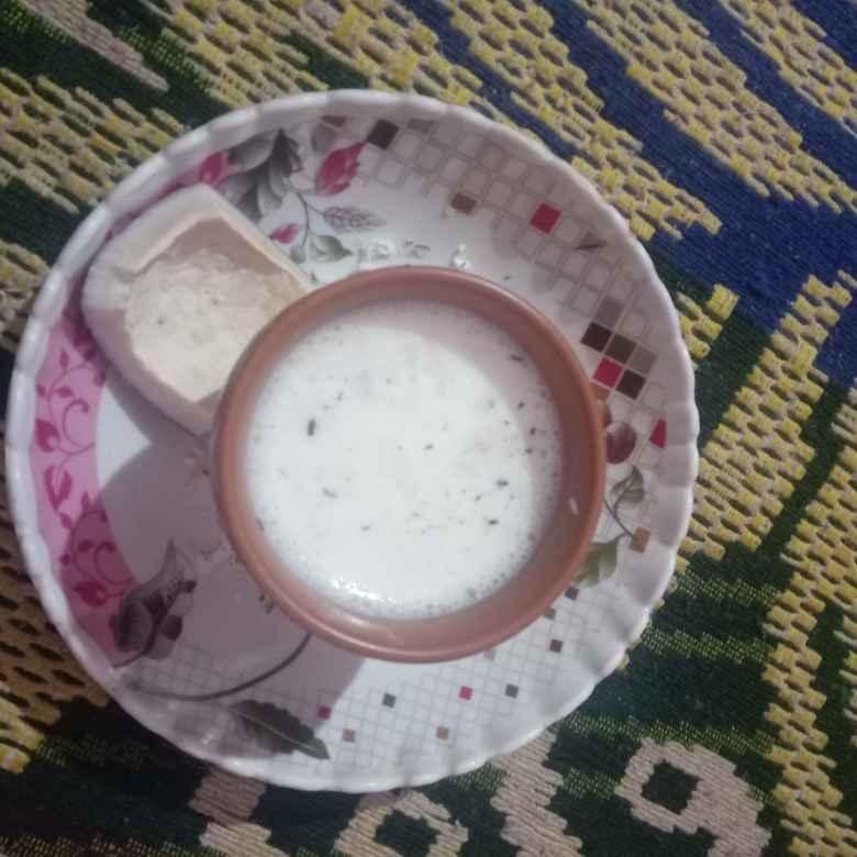 How to make दूध में नारियल