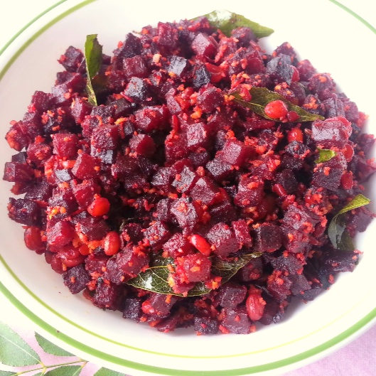 Photo of South Indian Style Beetroot Poriyal by Poonam Bachhav at BetterButter