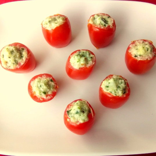 How to make Cucumber and Cheese stuffed Cherry Tomatoes