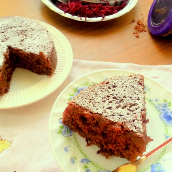 How to make Egg-less Beetroot and Chocolate Cake