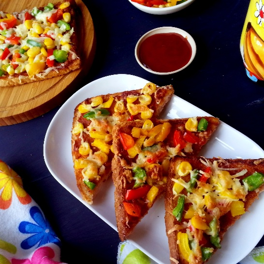 How to make Vegetable Bread Pizza