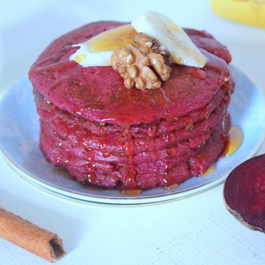 How to make Beetroot Oatmeal Pancake