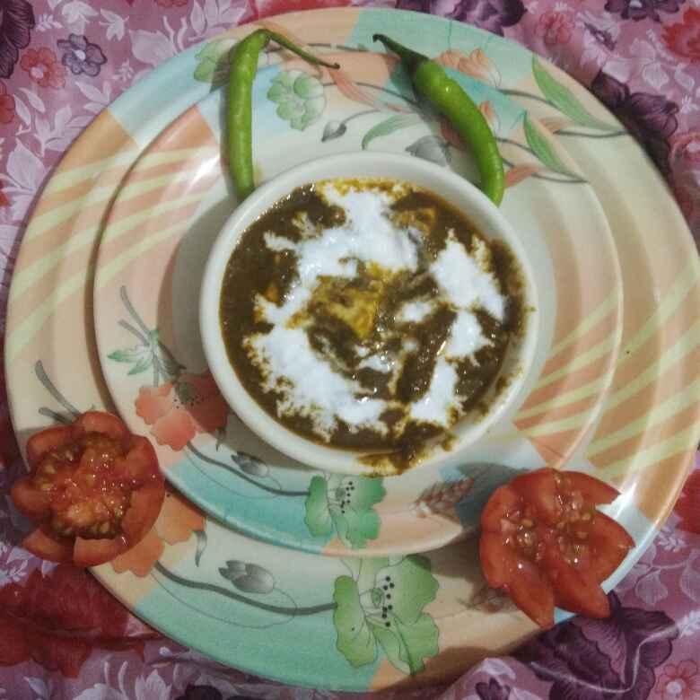 How to make Palak paneer ki subzi ( dhaba style )