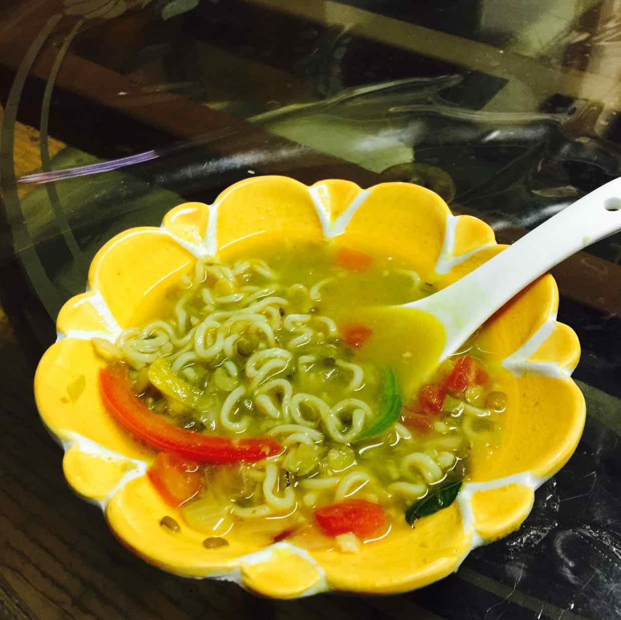 How to make Maggi lentils soup
