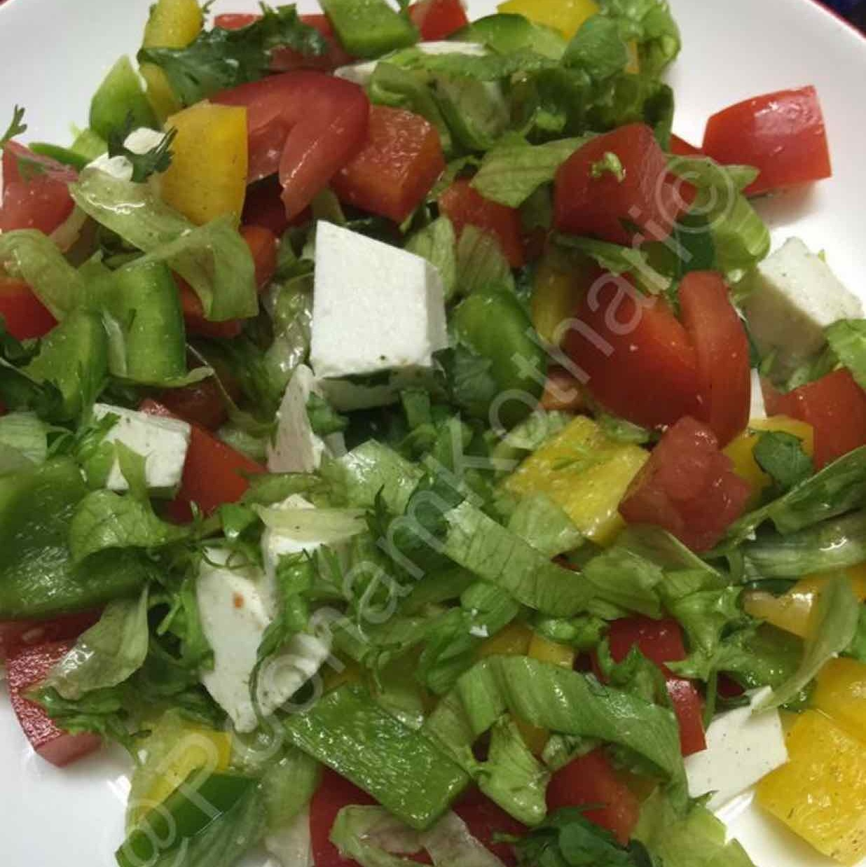 How to make Salad with paneer