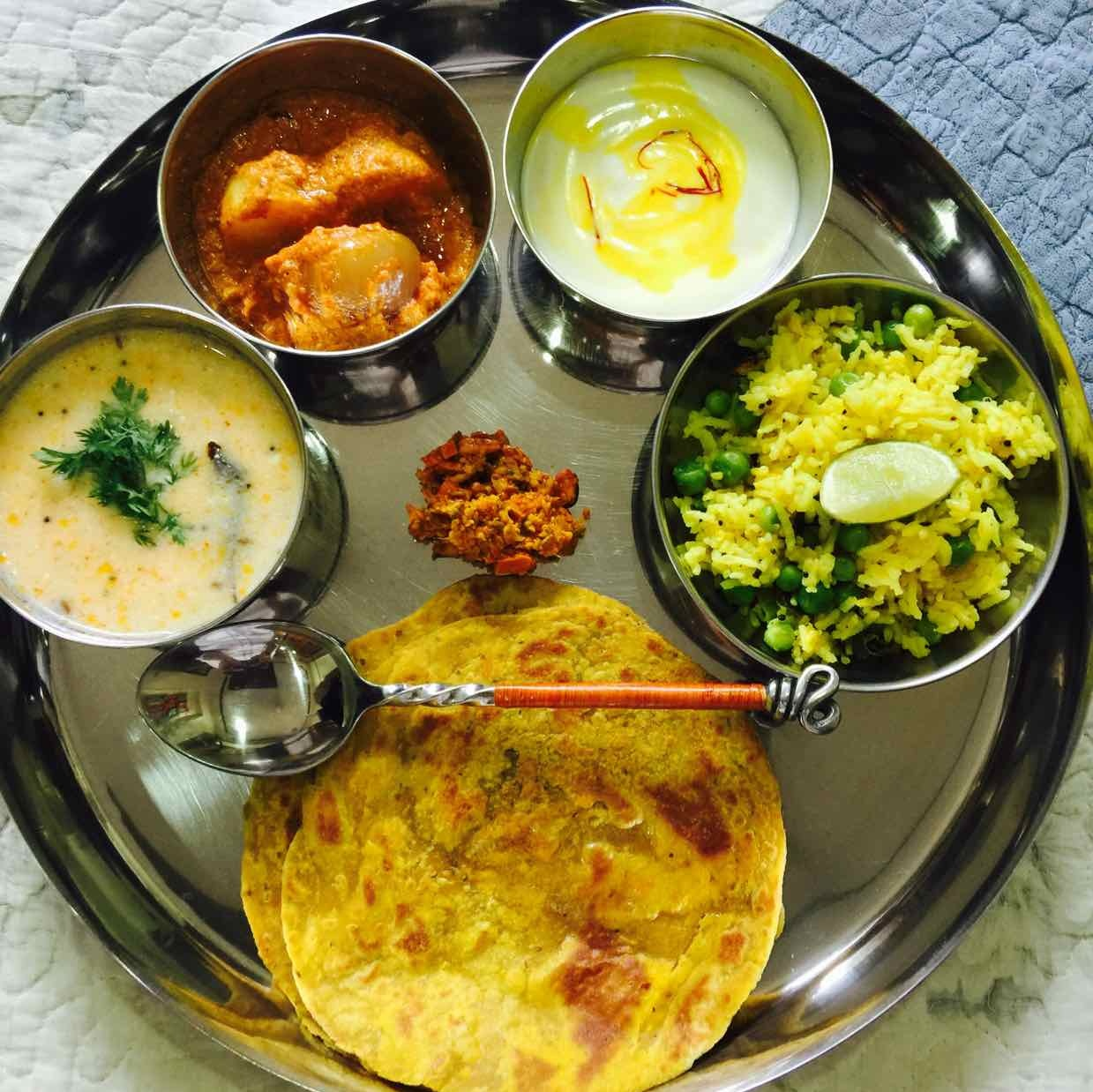 How to make yellow thali