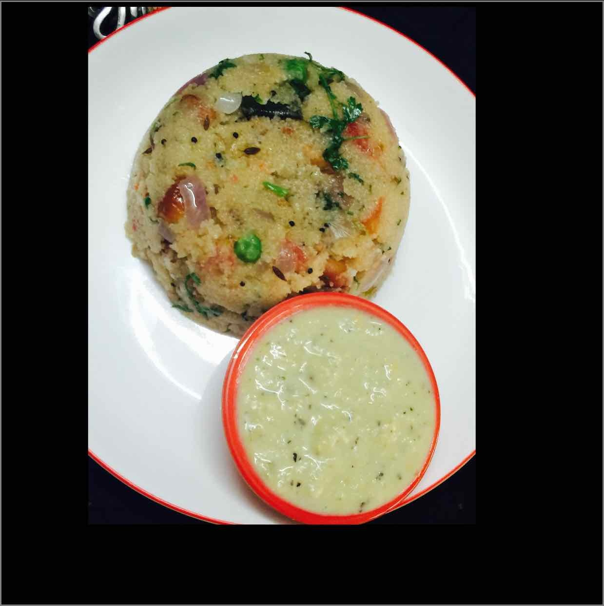 How to make upma with coconut chutney