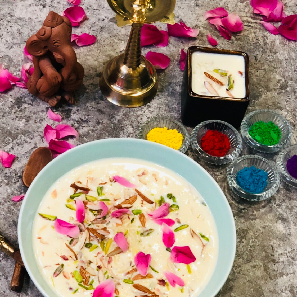 Photo of gulkand flavor rice kheer by Poonam Kothari at BetterButter