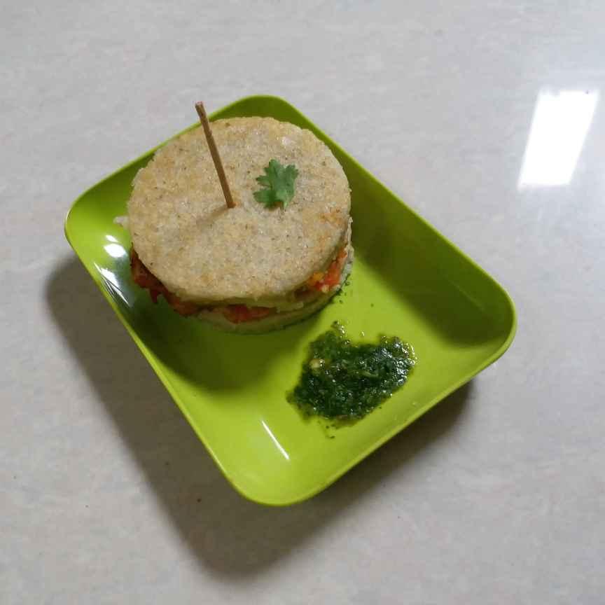 How to make ईडली बर्गर