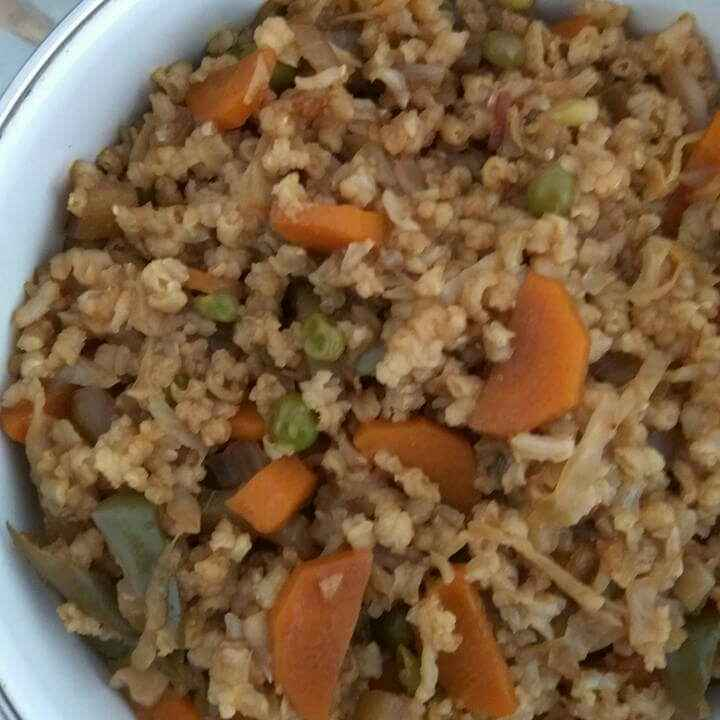 How to make Veg Brown Rice