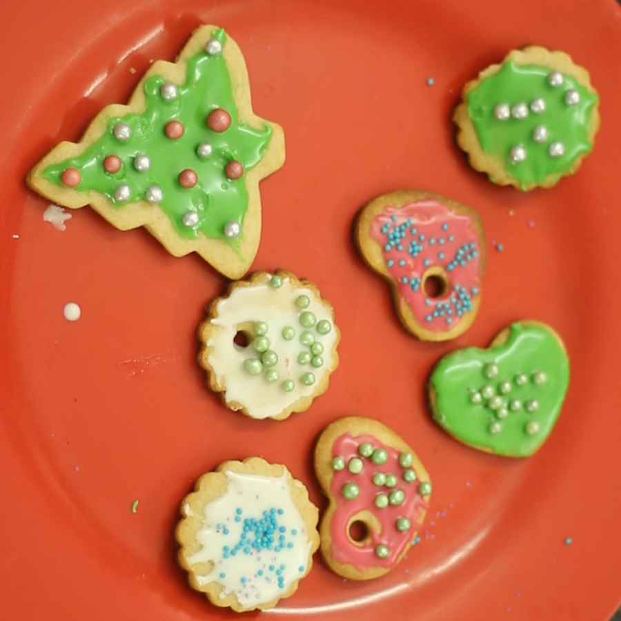 Photo of Edible Christmas Ornament cookies - Orange flavor by Poonam Ankur at BetterButter