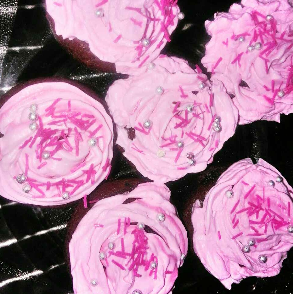 Photo of Red velvet cake with pink cream frosting by Poonam Singh at BetterButter