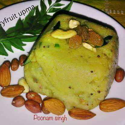 Photo of Dryfruits upma by Poonam Singh at BetterButter