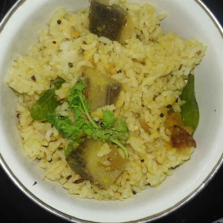 Photo of Vazhaikkaai dal rice by poorani Kasiraj at BetterButter