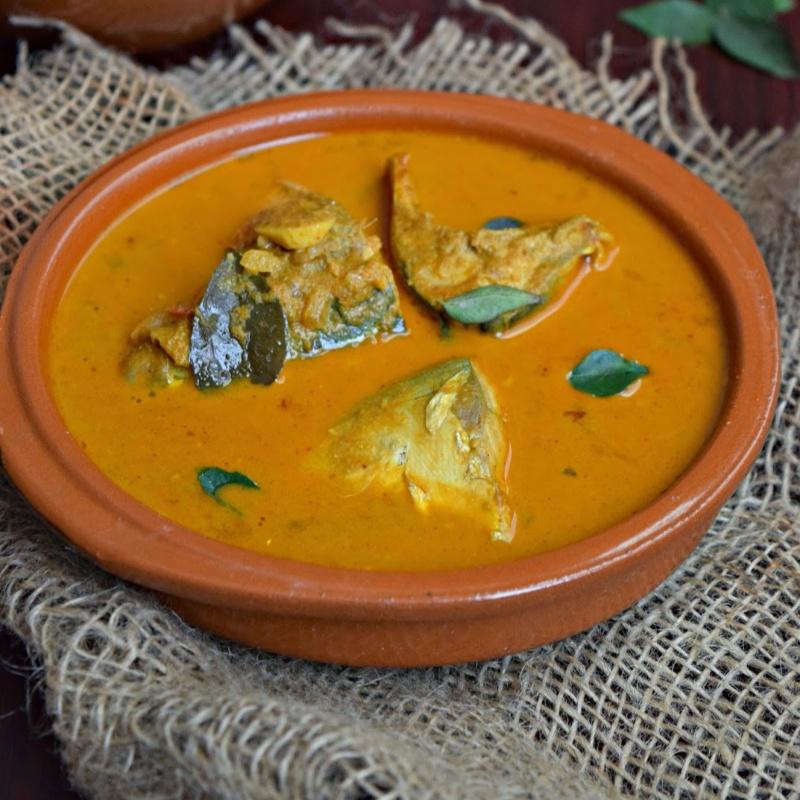 How to make Meen Kulambu/Fish Curry with Coconut