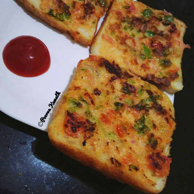 How to make Veggie Curd toast