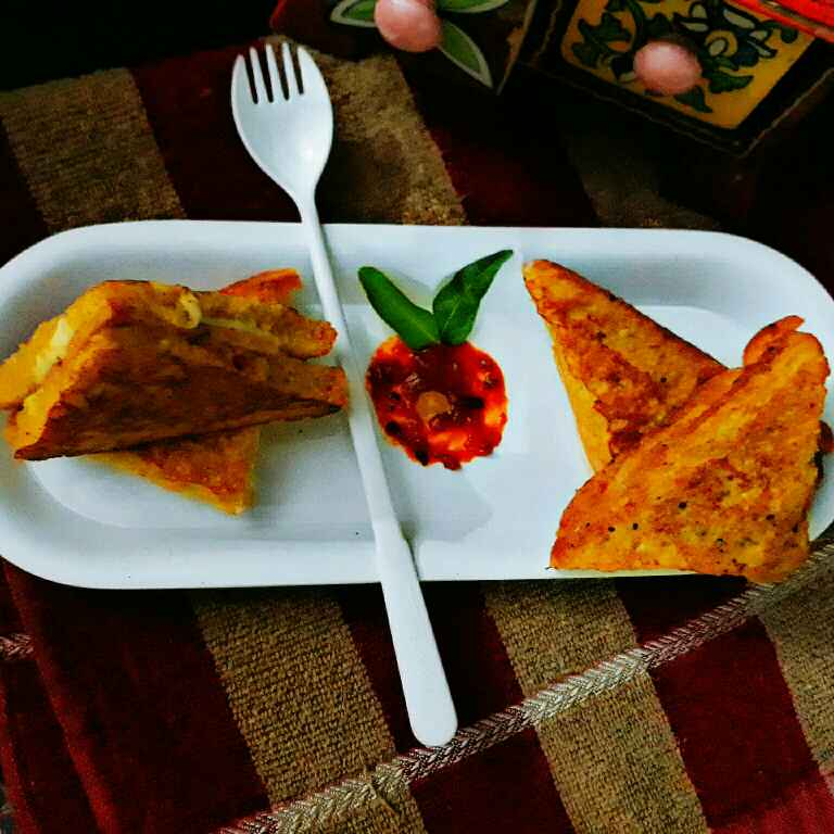 Photo of Chicken cheese French Toast by Prachi Gaddam at BetterButter