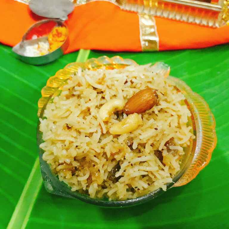 How to make Narali Bhat : sweet coconut rice