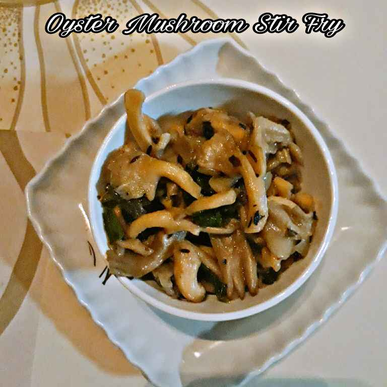 How to make Oyster mushroom stir fry