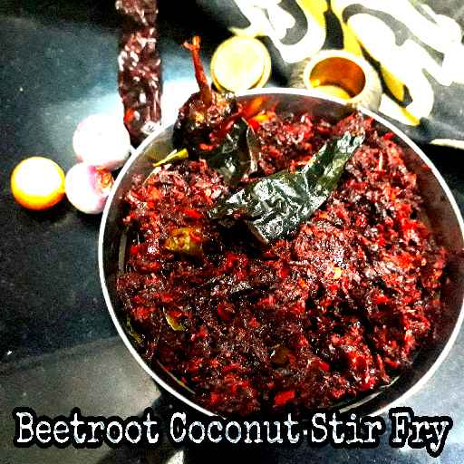 How to make Beetroot Coconut Stir Fry/ Beetroot Thoran