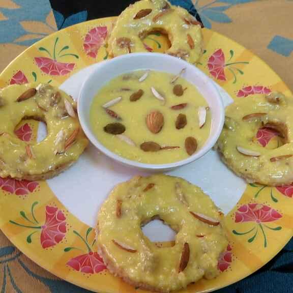 Photo of Mini bread rabdi ghewar by Prachi Goswami at BetterButter