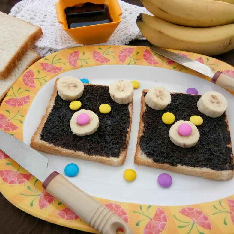 Photo of Choco banana open sandwich by Prachi Goswami at BetterButter