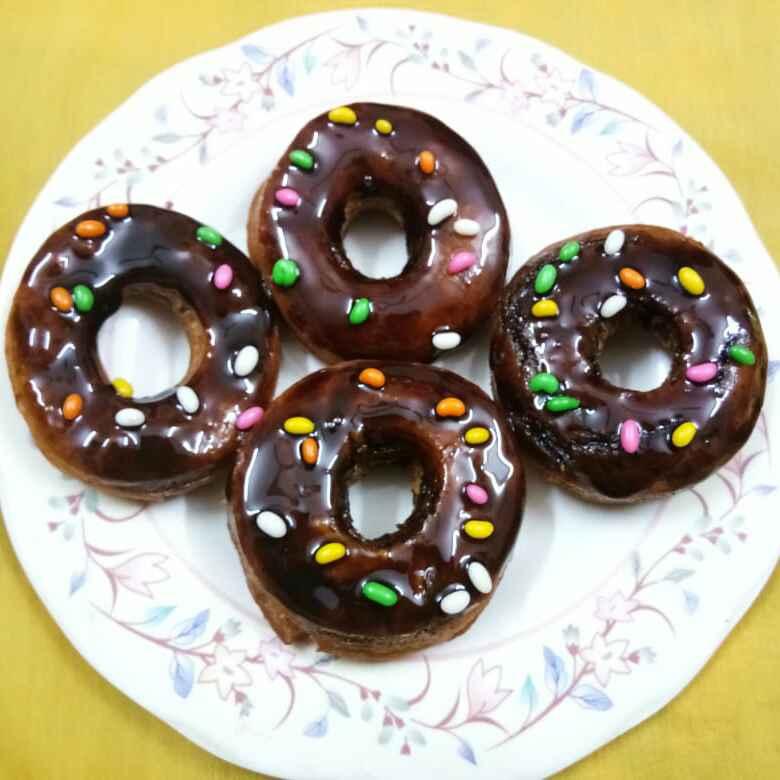 How to make डोनट्स विथ चॉकलेट ग्लेज
