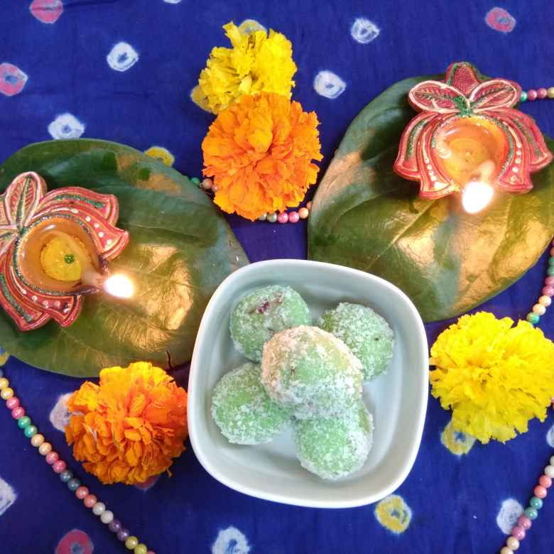 How to make Coconut paan balls
