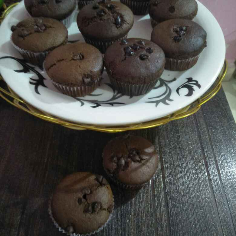 How to make Choco chips cup cake
