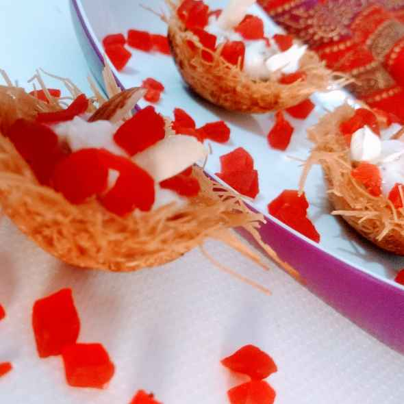 How to make Sweet Vermicelli Nest