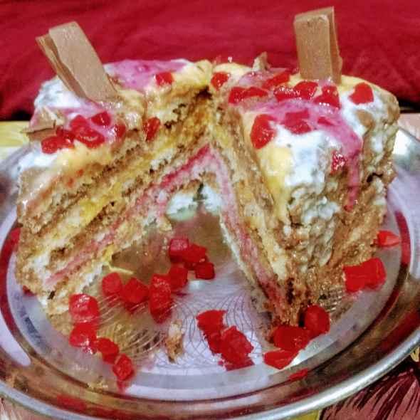 How to make No bake bread cake