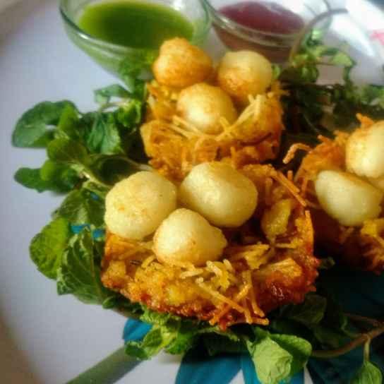 Photo of Paneeri egg with potato nest by Pratima Pradeep at BetterButter
