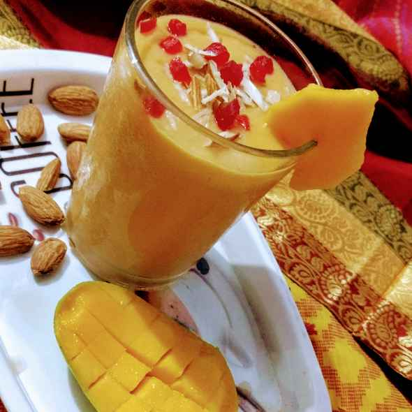 How to make Mango badam milk shake