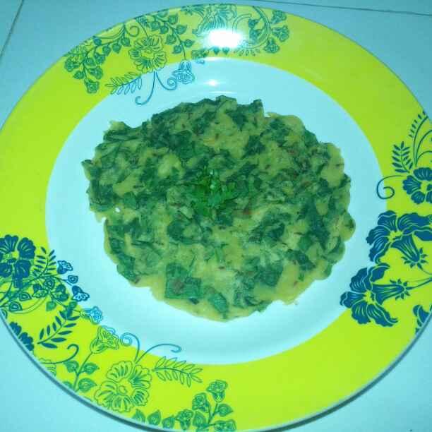 Photo of Spinach chickpea flour pancake by Pravallika Srinivas at BetterButter
