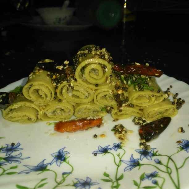 Photo of Spinach khandvi by Pravallika Srinivas at BetterButter