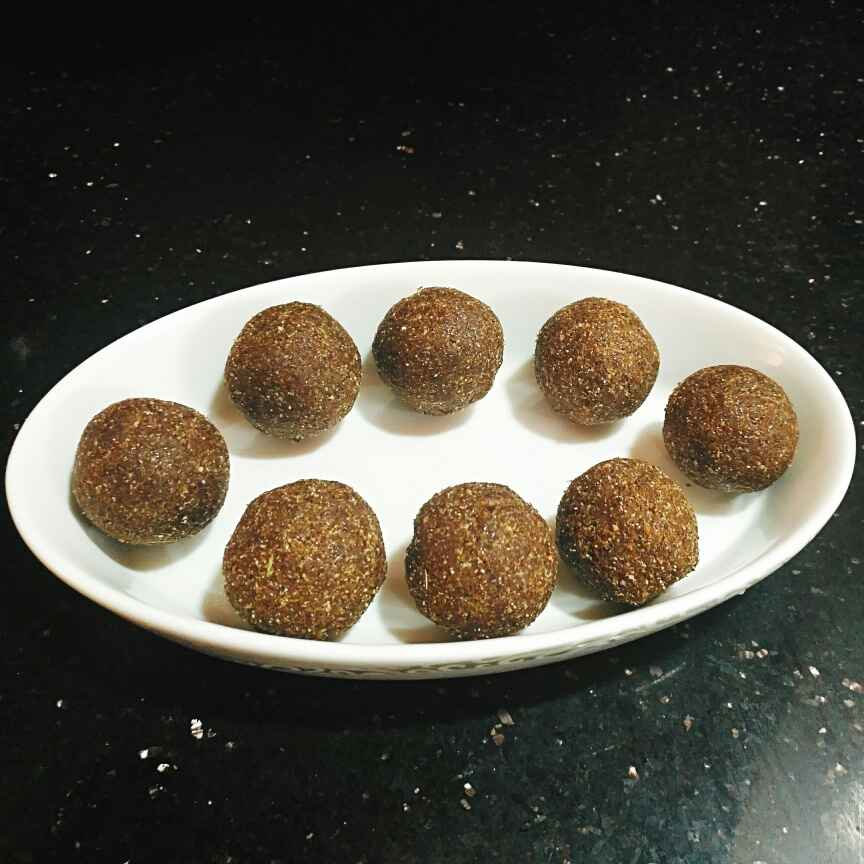 Photo of FLAX seeds dates laddoos by Pravallika Srinivas at BetterButter