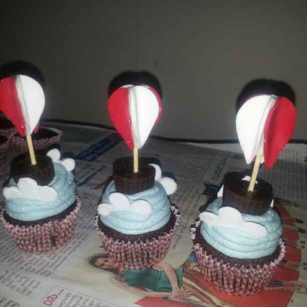 How to make Love in the air chocolate cup cakes