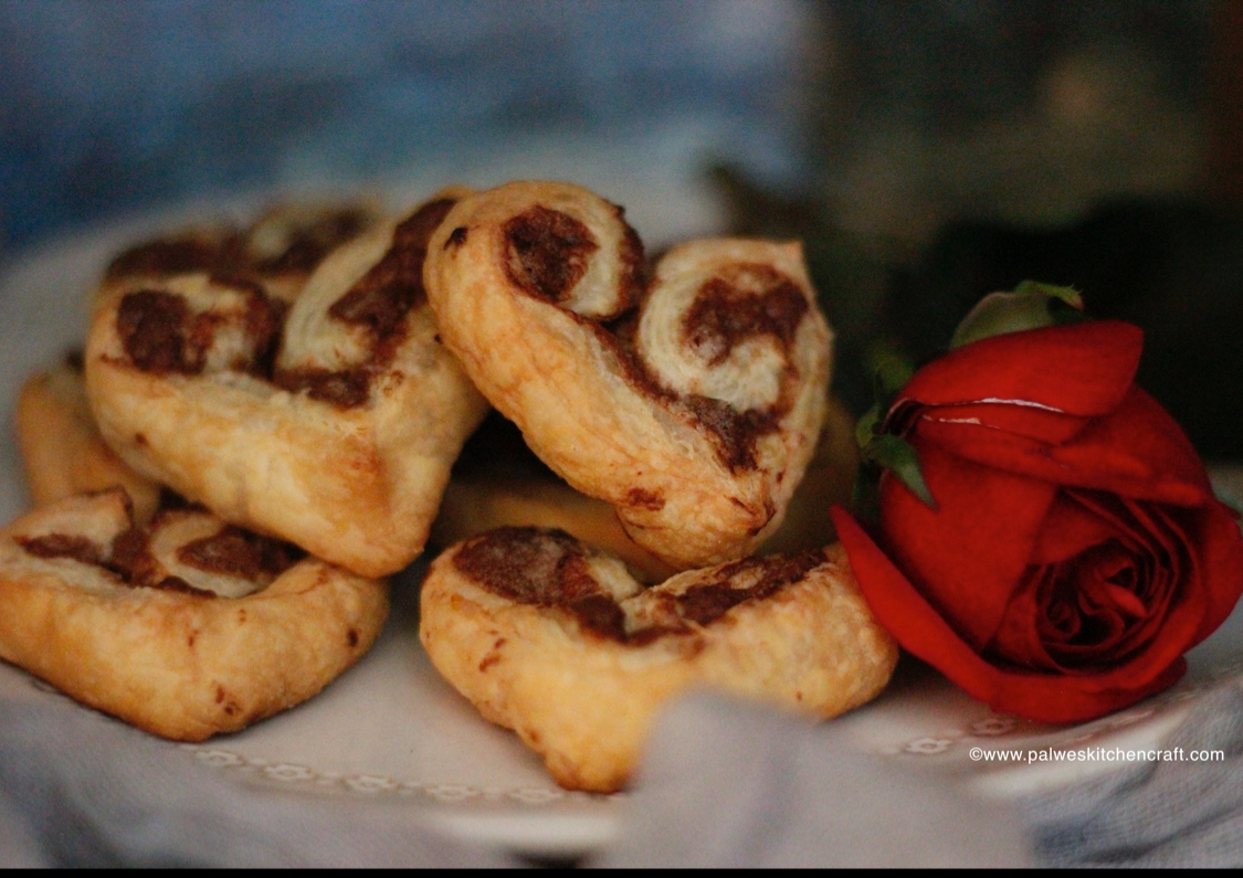 Photo of Chocolate puff hearts by Palwes kitchen craft  at BetterButter