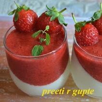 Photo of Strawberry  Panna  Cotta by Preeti Gupte at BetterButter