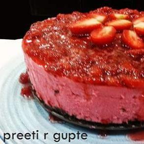 How to make No Bake Strawberry Cheesecake