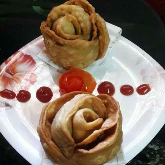 How to make Rose samosa