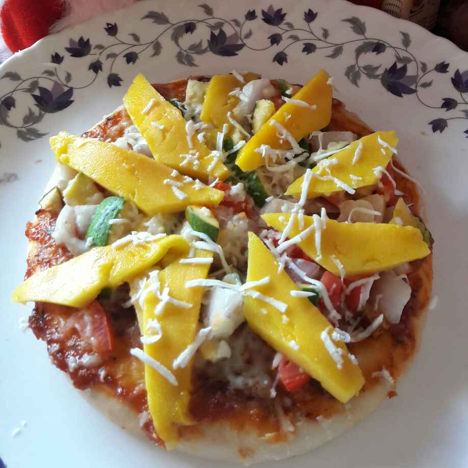 Photo of Mango chat pizza by Preeti Jaiswani at BetterButter