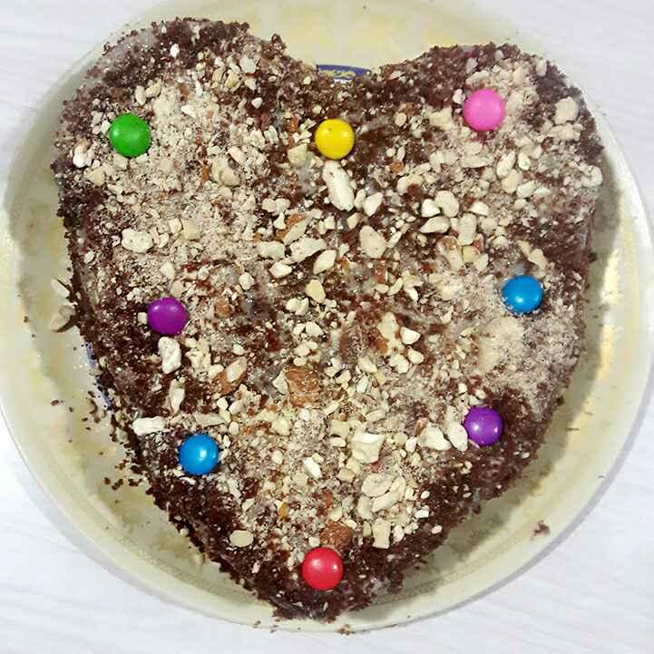 How to make Chocolate almonds cake