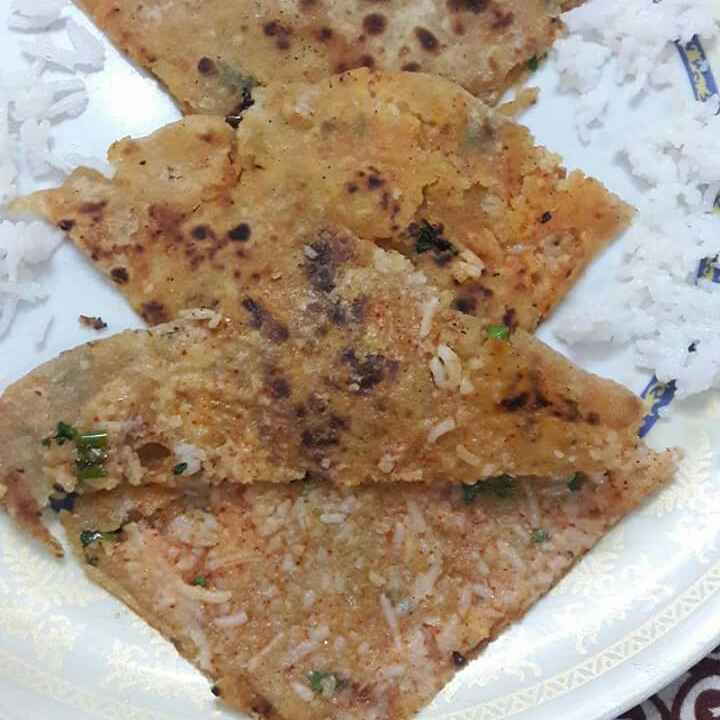 Photo of Cooked rice parantha by Preeti Jaiswani at BetterButter