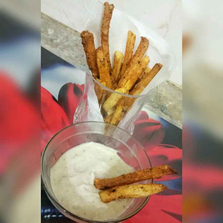 How to make Masala french fries with mint mayo dip