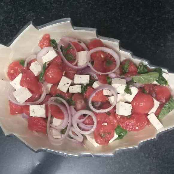 Photo of Watermelon cheese salad by Prerna Mohit Khurana at BetterButter