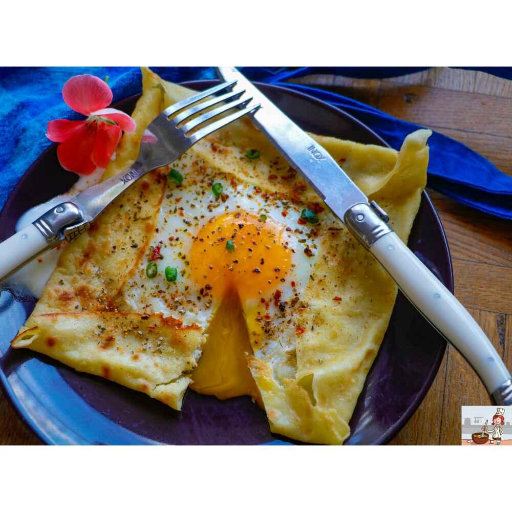 How to make Cheesy egg crepe